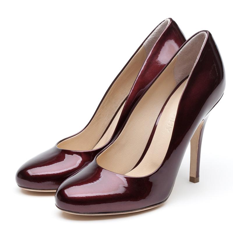 Liam Fahy: Elle burgundy patent heels | Shoes,Shoes > Heels -  Hiphunters Shop