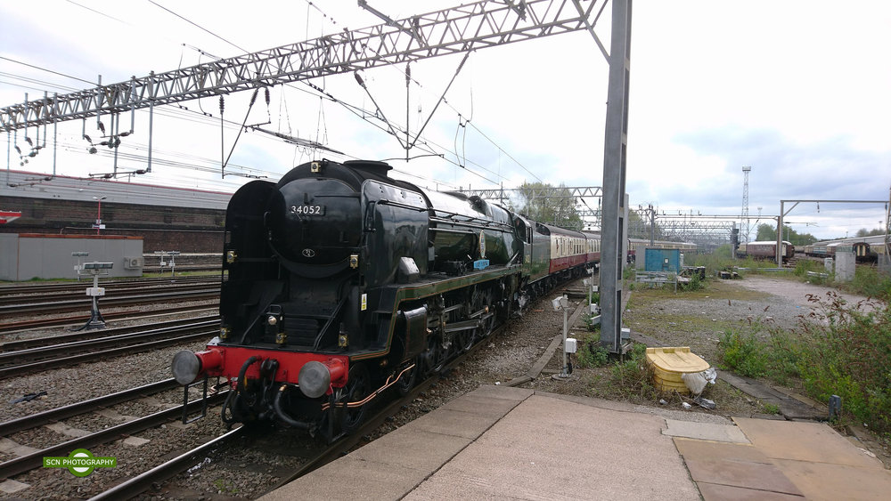 Arrival at Crewe