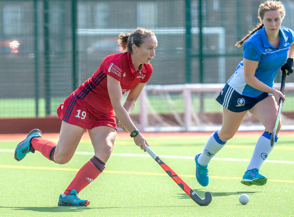 Scotland's Nikki Alexander-Lloyd in action for Hockey for Heroes