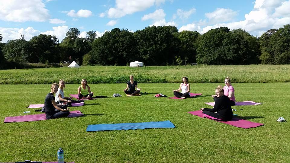 Yoga class...