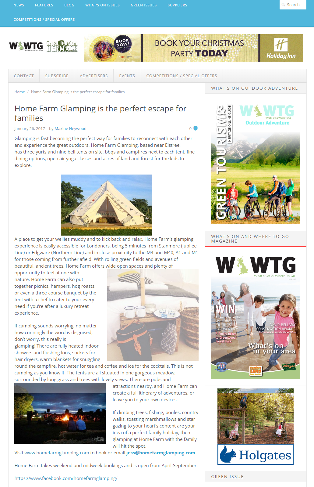 In The Press at Home Farm Glamping Near London - London\'s Closest ...