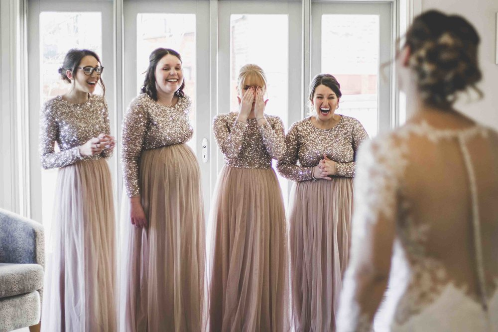 Bridesmaids Reaction Wedding Photography Dunedin House.jpg