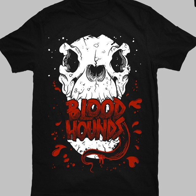 Here's a tshirt design I finished up a couple of weeks back for Canadian band Bloodhounds, heard they sold quite a few at their last gig which is awsome! If are interested in commissioning me for some apparel design email me at aldersonillustration@gmail.com #art #illustration #design #appareldesign #skull