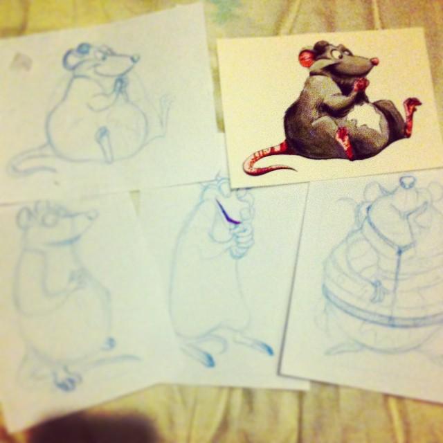 Planning some gifts for the family! #art #illustration #design #rat