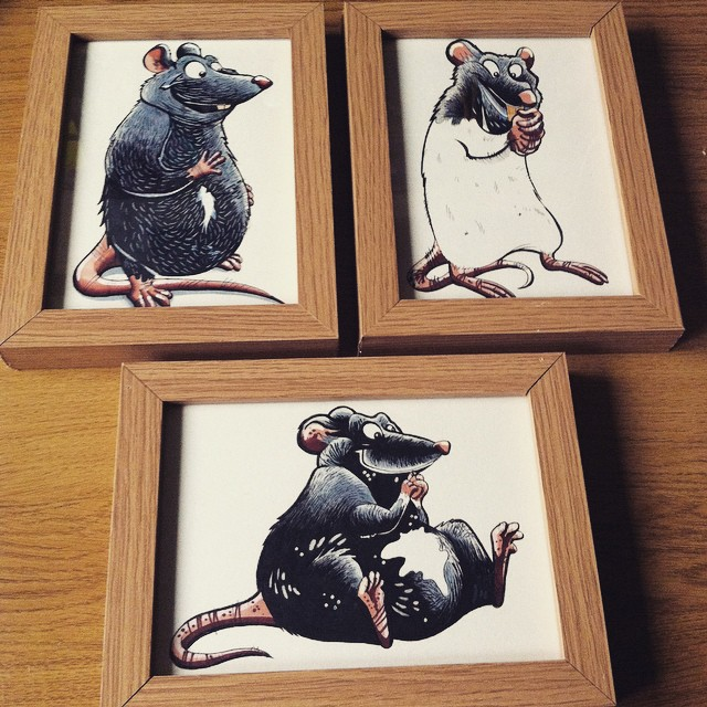 Little handmade christmas presents for a special family member! #rat #petrat #dumborat #painting #illustration