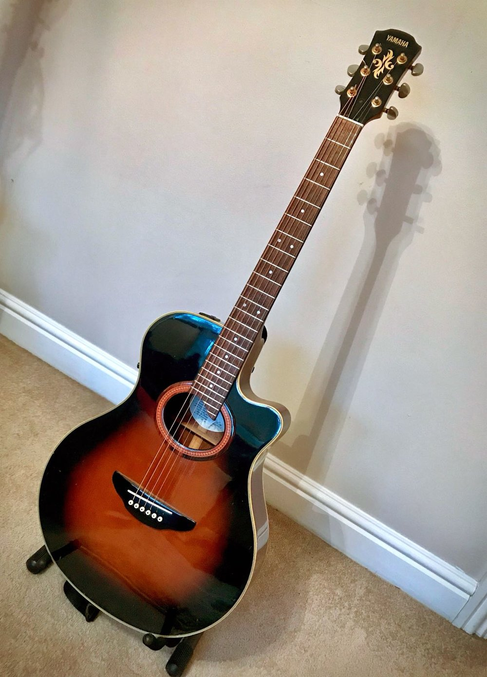 First Prize !! Win one of my first guitars .. its a Yamaha APX 6-A