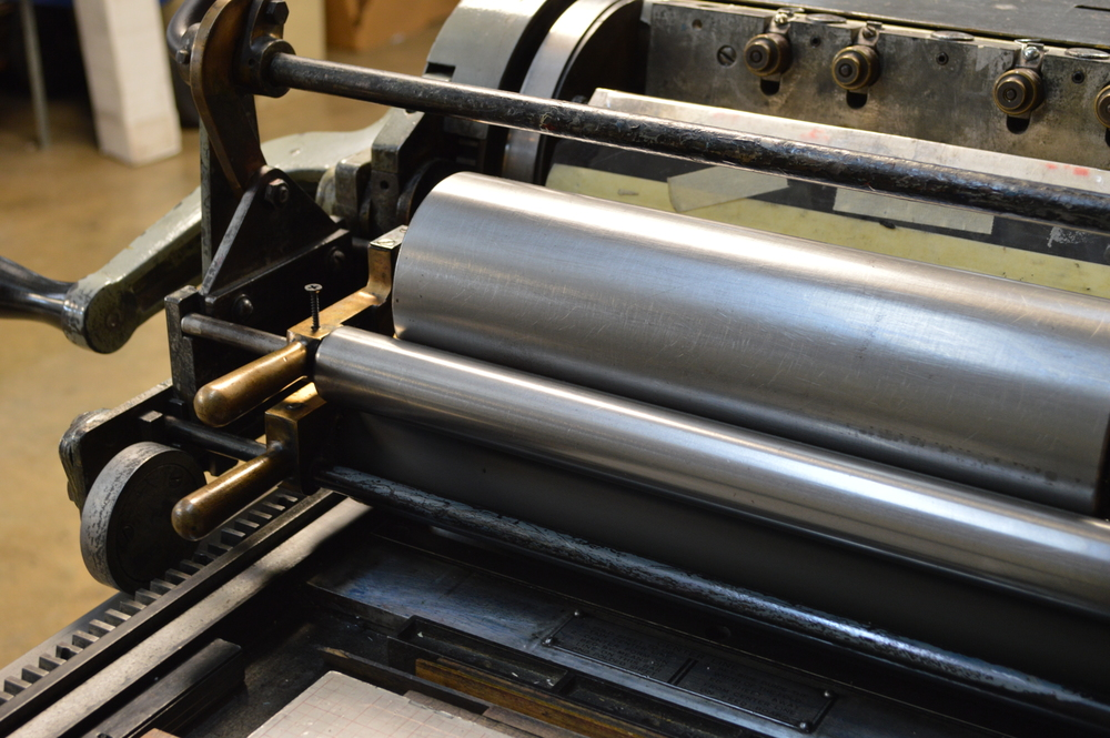 1934 Vandercook #4 printing at its best.