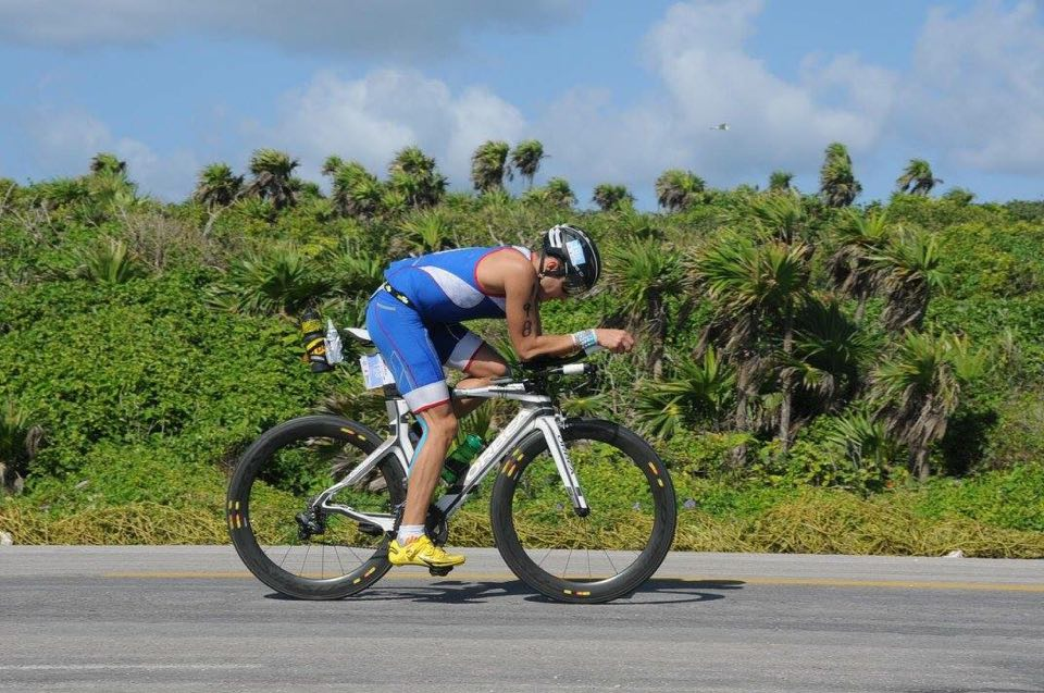 Laurent Barthe en el Ironman Cozumel de Noviembre 2015.