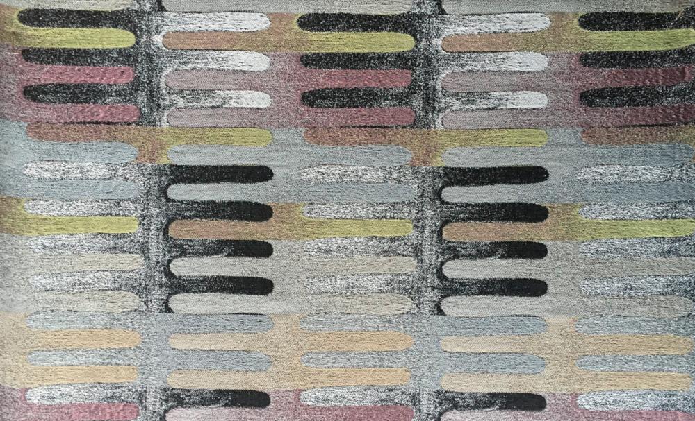 "COLOR FOG #1 (detail)  Jacquard Woven, 2017. 54"" x 72"". Cotton, polyester, metallic."