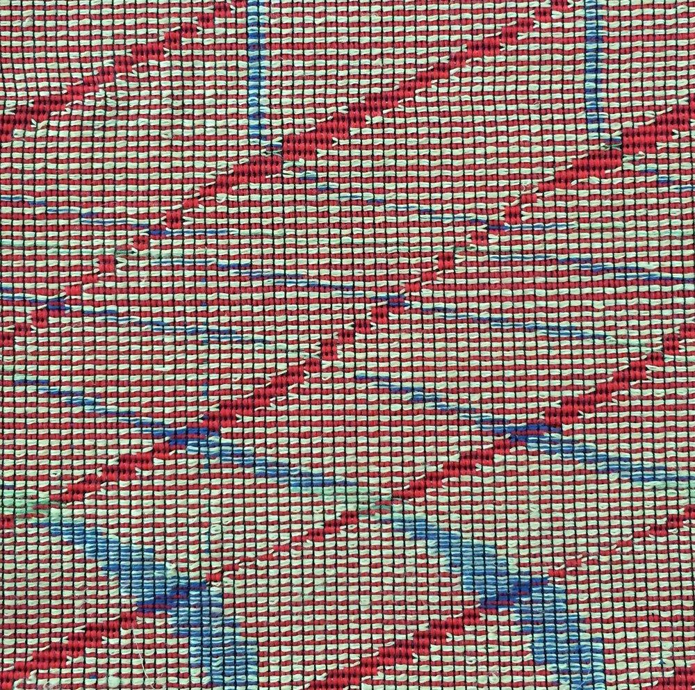 Dobby Woven, 2016.  Linen, cotton, wool.