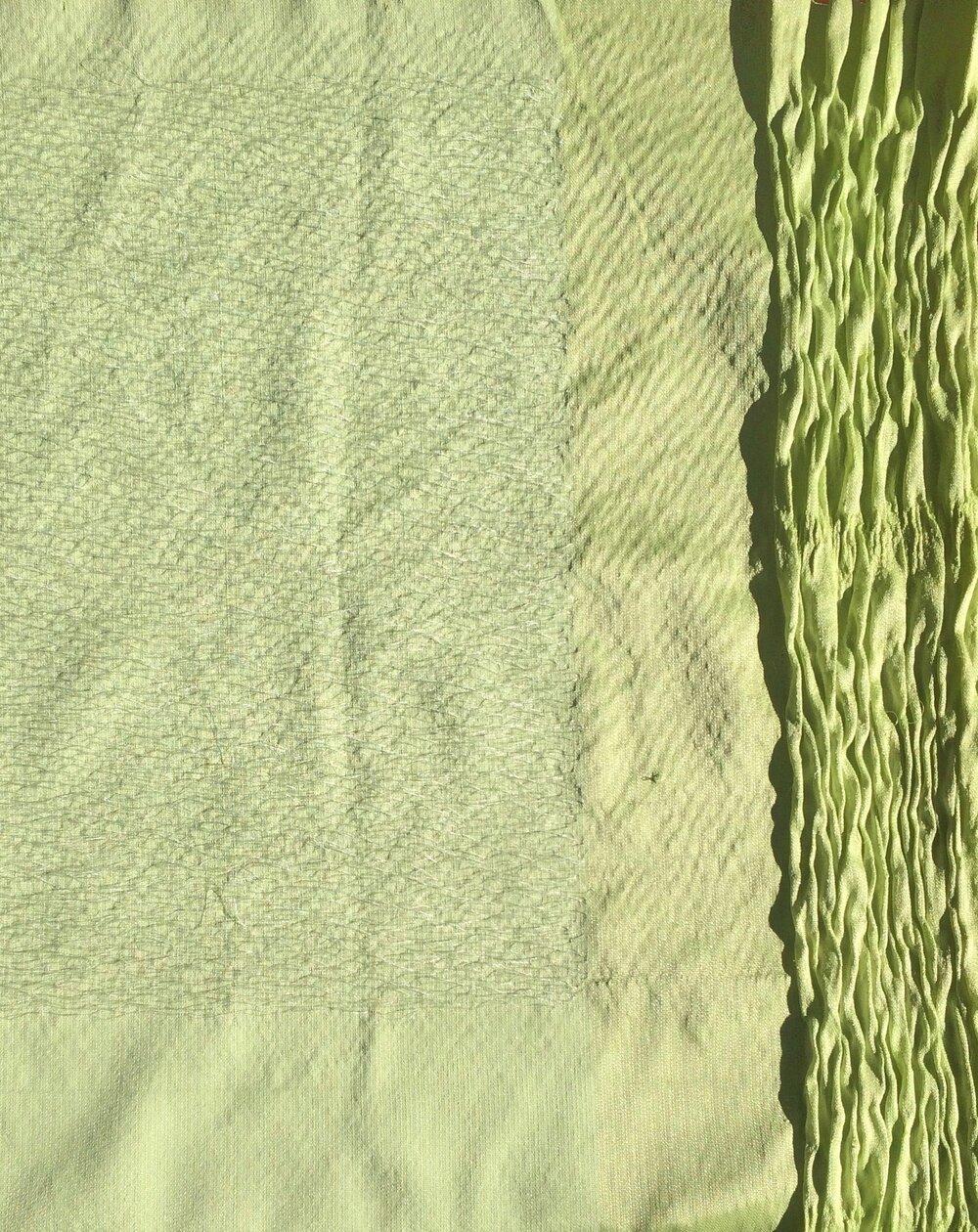 "TOWEL  Dobby Woven, 2017.  30"" x 40"". Silk, transparent film yarn, elastic."