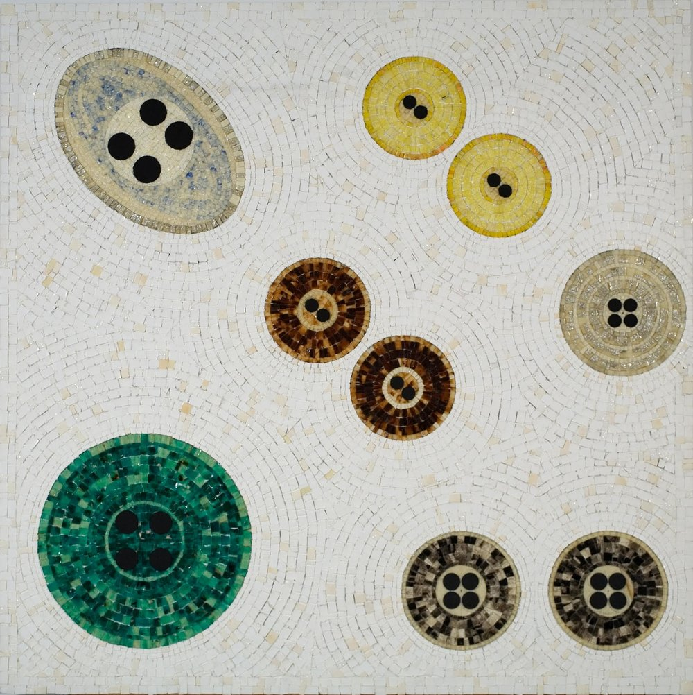 Jack Whitten,  28 Black Holes (Dedicated to Jackie O) , 1993-1994    Acrylic and mixed media on canvas    Image © the artist