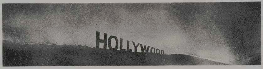 Hollywood in the rain