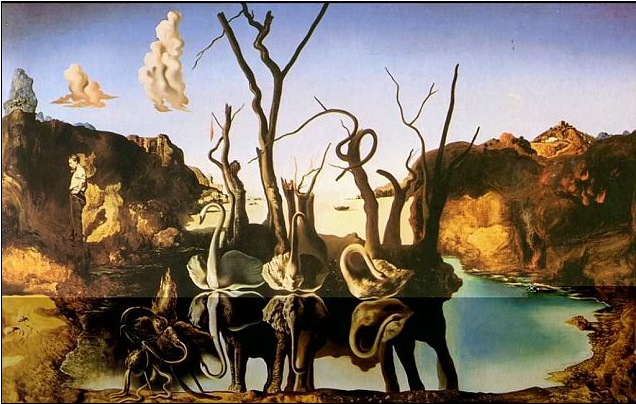 """Swans Reflecting Elephants"" by Salvador Dali was among the art stolen by the Nazis"