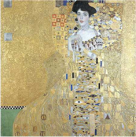 "Gustav Klimt's painting ""Adele Bloch-Bauer I"" was on display in April last year in Los Angeles as part of a special display of art looted by the Nazis"