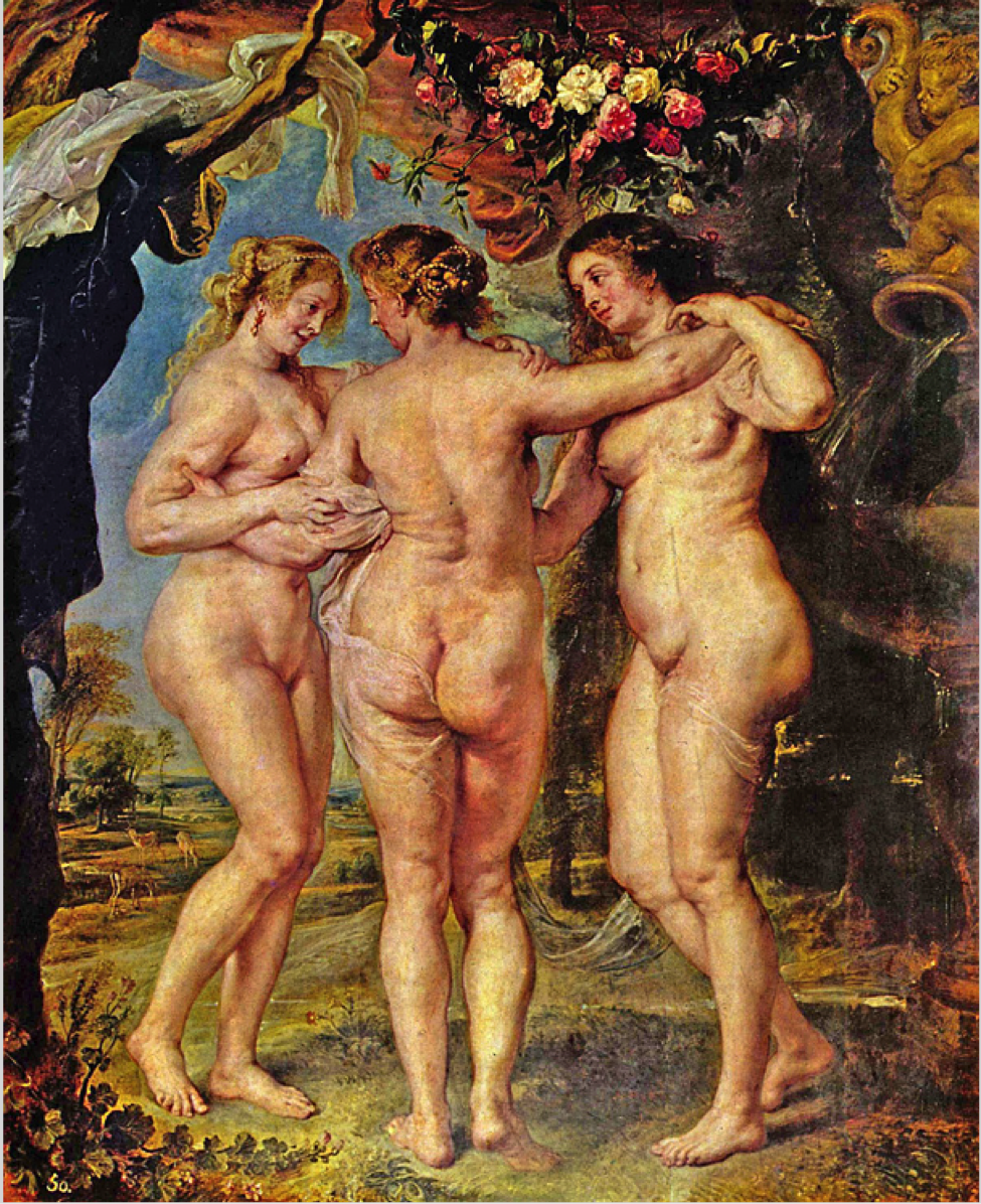 naked painting of a fat woman