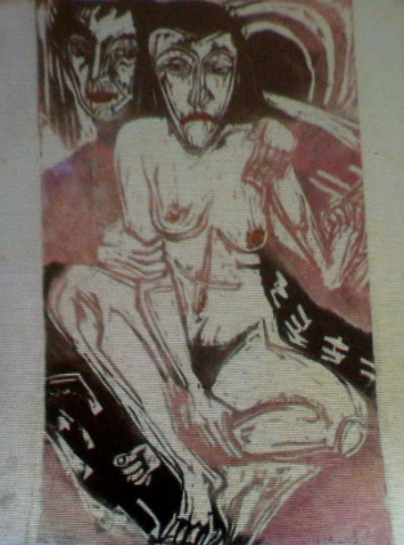Work recovered believed to be by Ernst Ludwig Kirchner