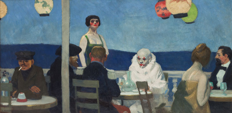 Edward Hopper 1882-1967, Soir Bleu, 1914. Oil on canvas. Whitney Museum of American Art, New York; Josephine N. Hopper Bequest 70.1208. ©Heirs of Josephine N. Hopper, licensed by the Whitney Museum of American Art. © Photograph by Sheldan C. Collins
