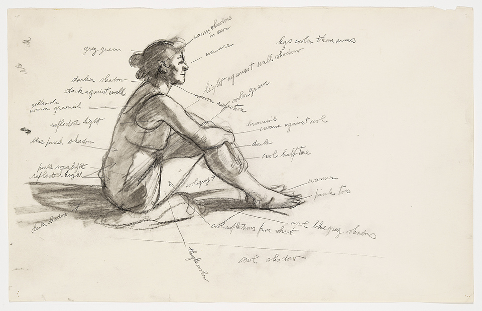 Edward Hopper, Study for Morning Sun, 1952. Whitney Museum of American Art, New York; Josephine N. Hopper Bequest © Heirs of Josephine N. Hopper, licensed by Whitney Museum of American Art, N.Y.