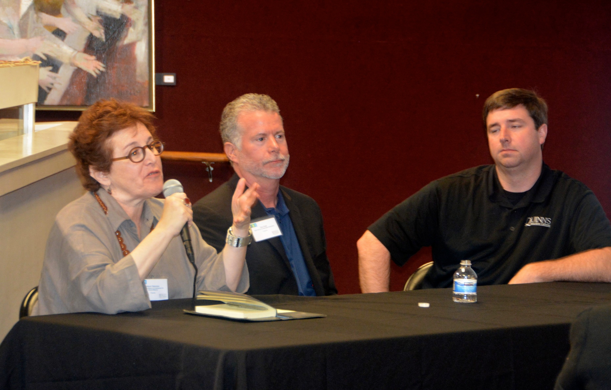 Panel with Hilarie Faberman, Tom Pratt and Matthew Quinn