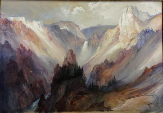 """Grand Canyon of the Yellowstone, 1895,"" Thomas Moran. Watercolor on paper, Rees-Jones Collection"