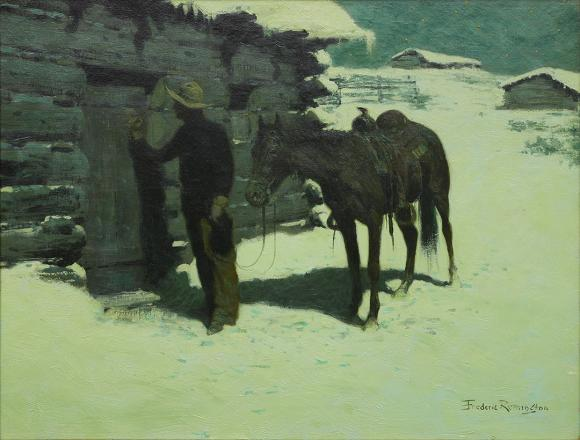 """The Belated Traveler, 1905–06,"" Frederic S. Remington, Rees-Jones Collection"