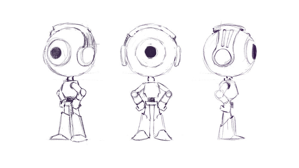 Character Illustration Design Process : Character design safie — alegría motion