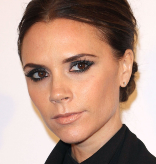 Victoria's signature smokey-eye make up.