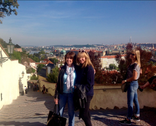 Mentoring is fun in luxurious surroundings. With Jean Thompson in Prague (photo - worklondonstyle)