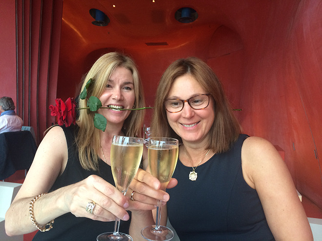 Birthday celebrations with Carol Solvay at the George Pompidou in Paris.