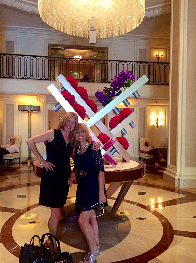 Dinner at the Beverly Wilshire Four Seasons Hotel in Los Angeles with Nance Rosen.