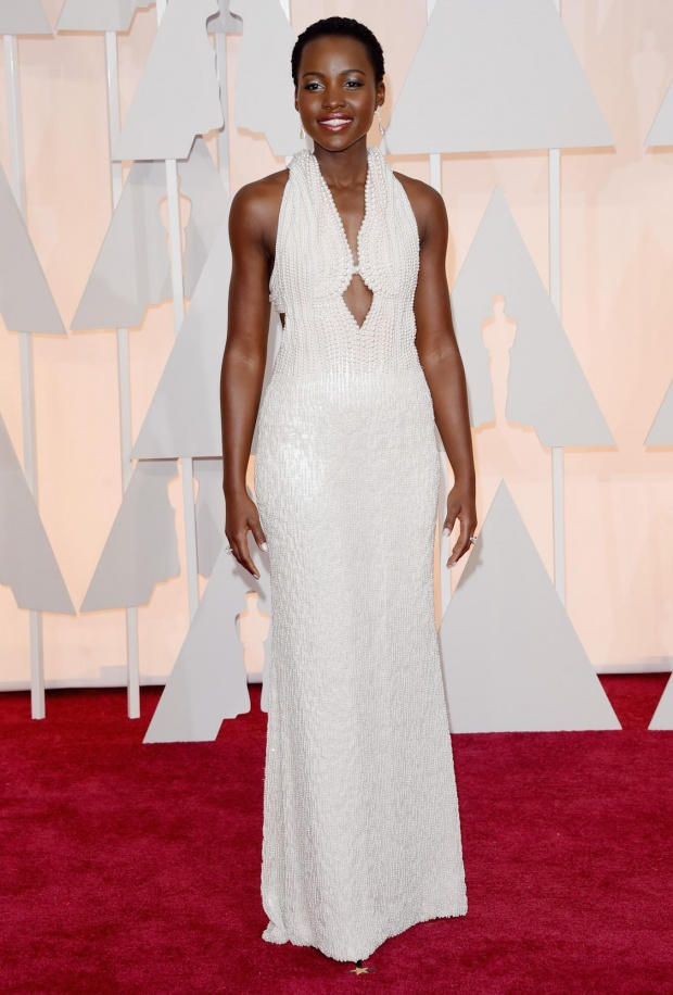 Lupita in Custom Calvin Klein