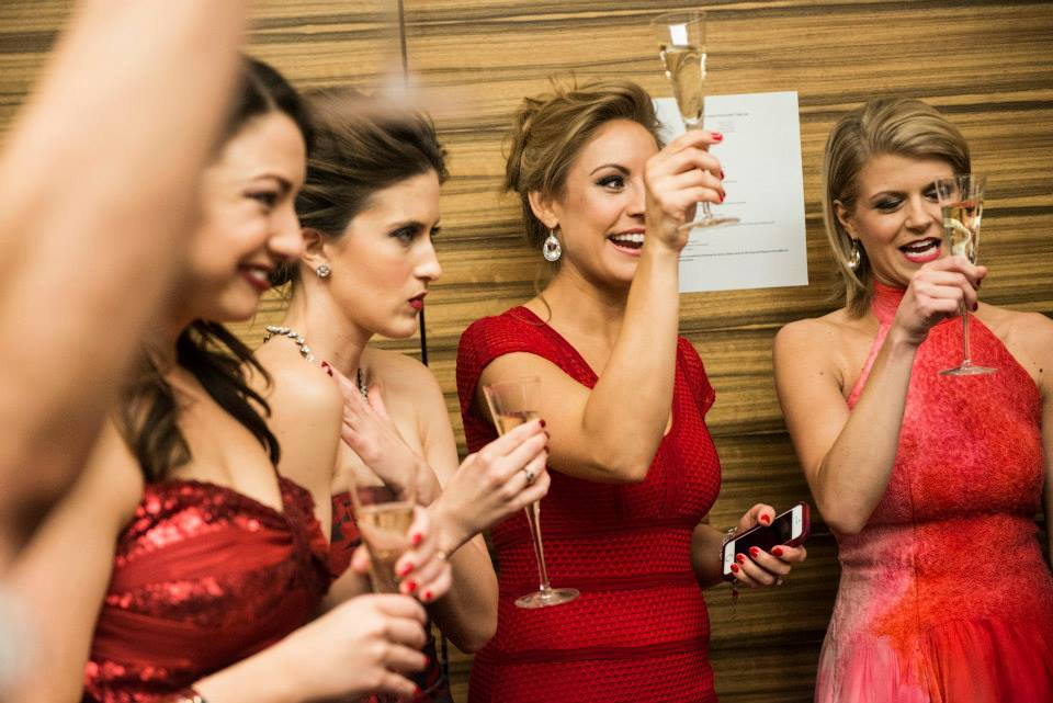 A champagne toast helped calm nervous energy.