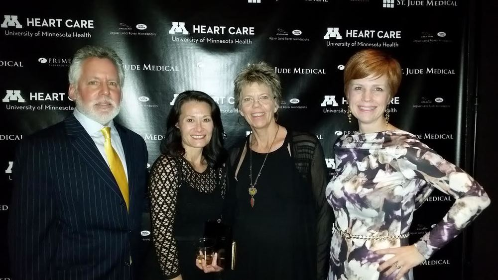 Our friends celebrating the 10th anniversary of their son's heart transplant that night!