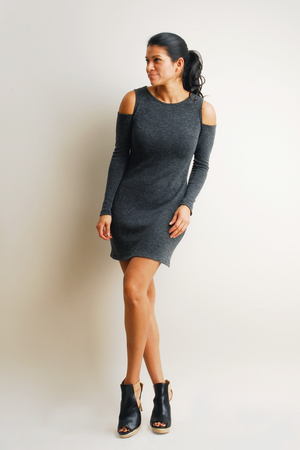 J5305 CoSho Dress in Lead $148