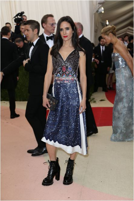 Jennifer Connelly in Vuitton. I just think of Jennifer as more elegant than this. They all seem a bit Helena Bonham Carter, you know what I mean?
