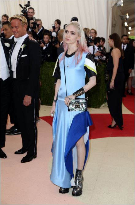 Grimes in Vuitton.