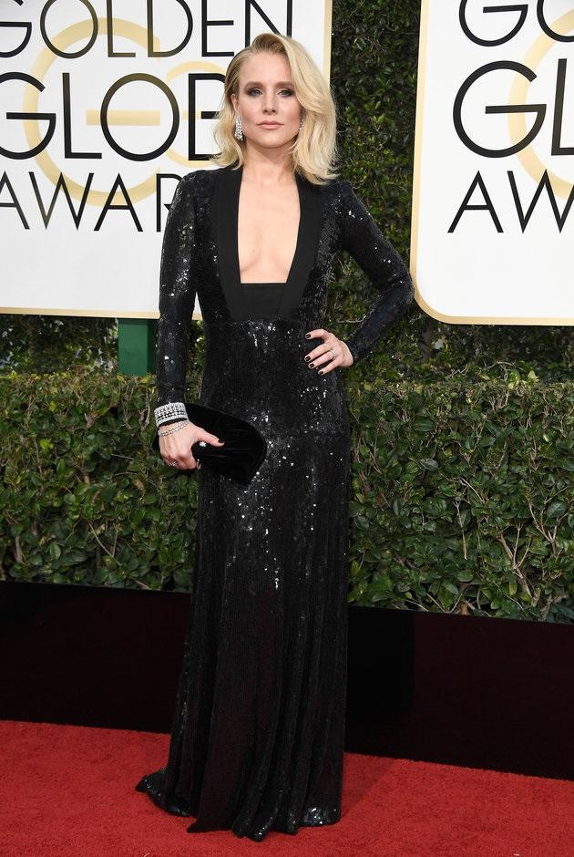 Kristen Bell in Jenny Packham.