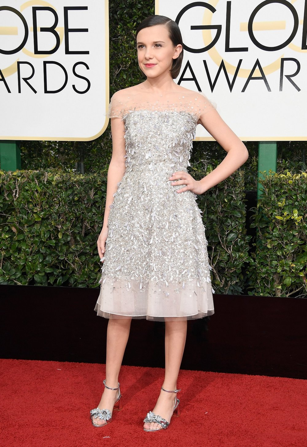 Millie Bobby Brown in Jenny Packham