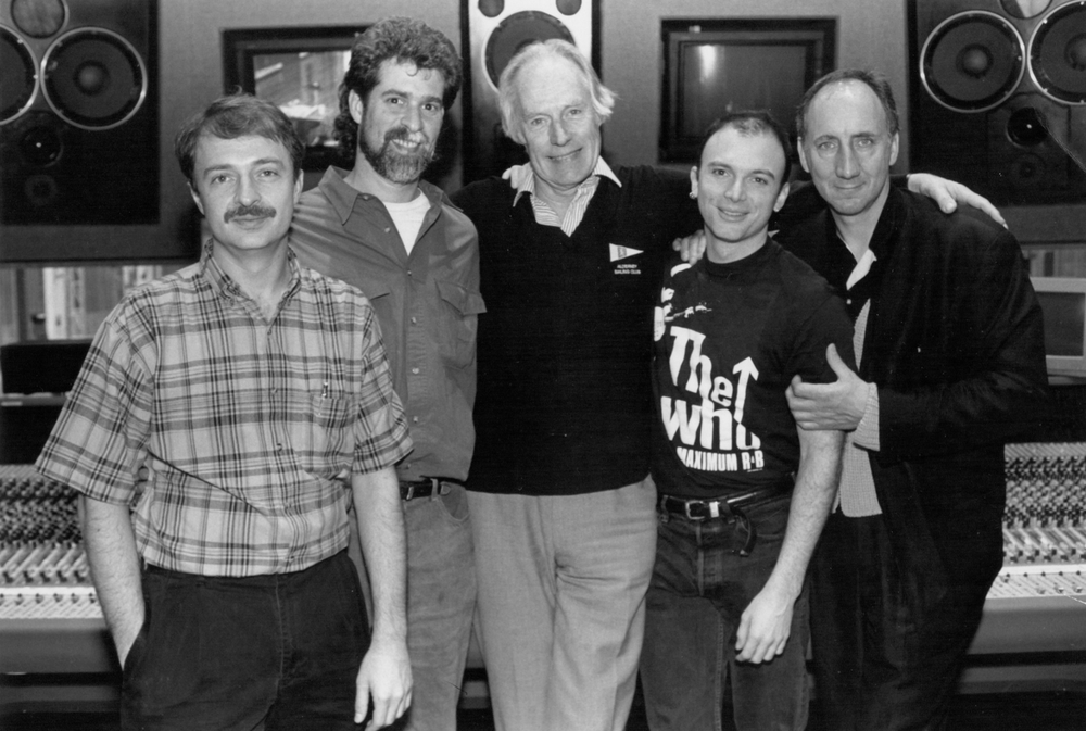 With Pete Townshend, George Martin, Michael Cerveris, and Steve Margoshes at the Tommy recording sessions.jpg