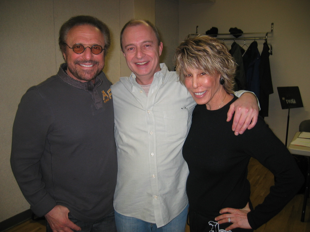 With Barry Mann and Cynthia Weil at Mask rehearsal.JPG
