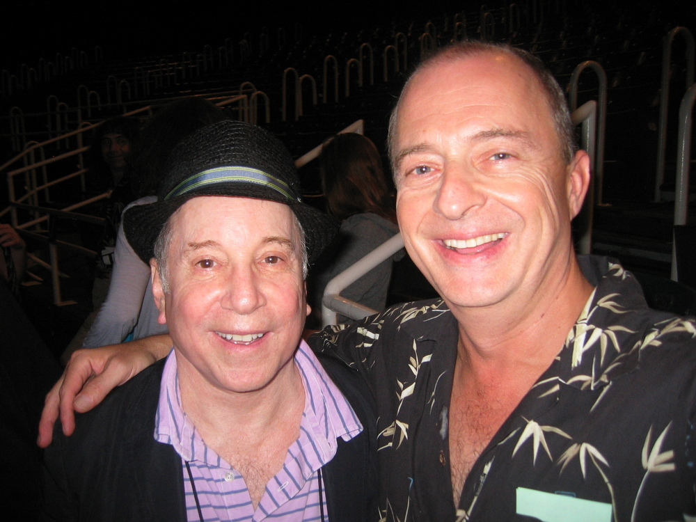 With Paul Simon on opening night of Capeman at the Delacorte.JPG