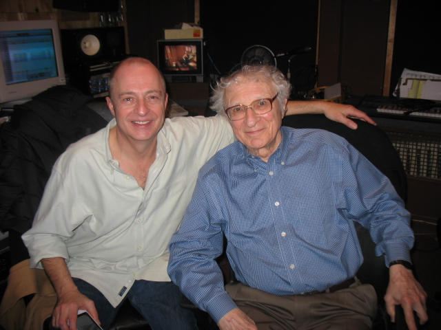 With Sheldon Harnick at The Lion In Love sessions.JPG