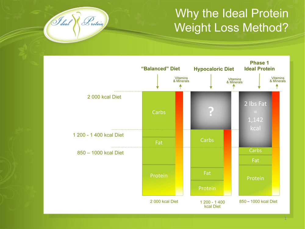 Graphic comparing Ideal Protein Diet