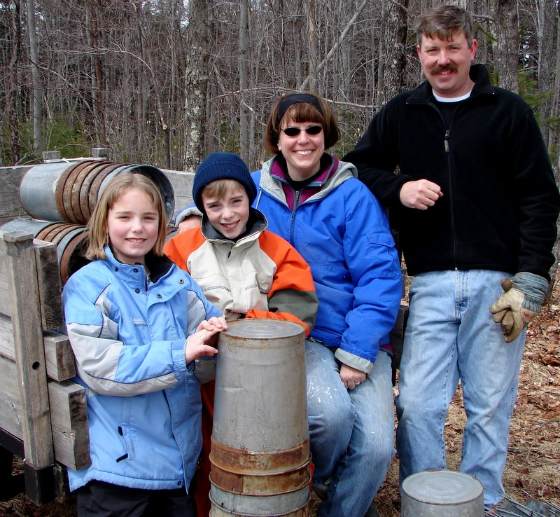 2006: Ivy, Quincy, Christi & Stephan prepare to tap maple trees and kick off the season.