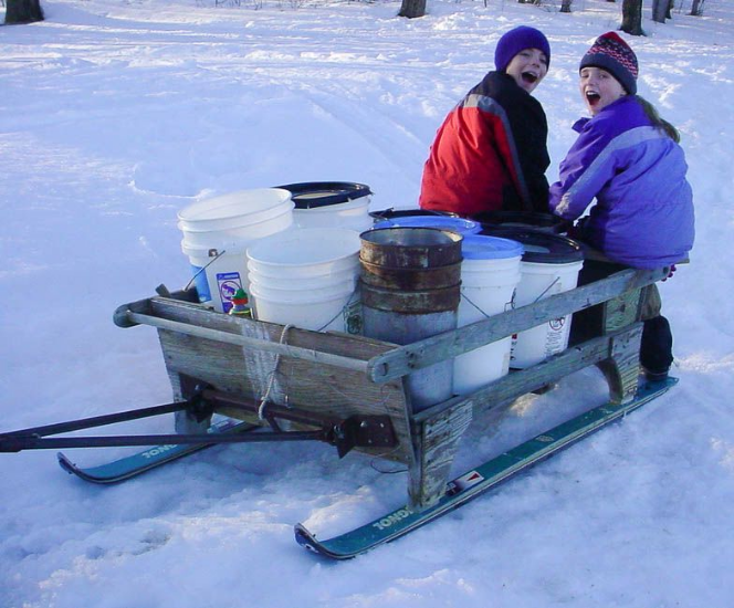 Heading out to collect sap!