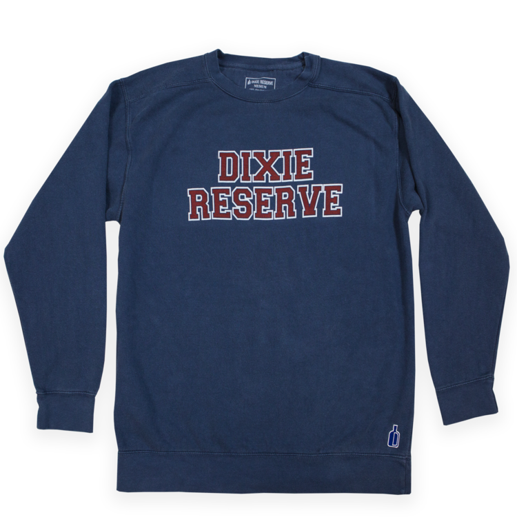 dixie reserve collegiate crew neck sweatshirt