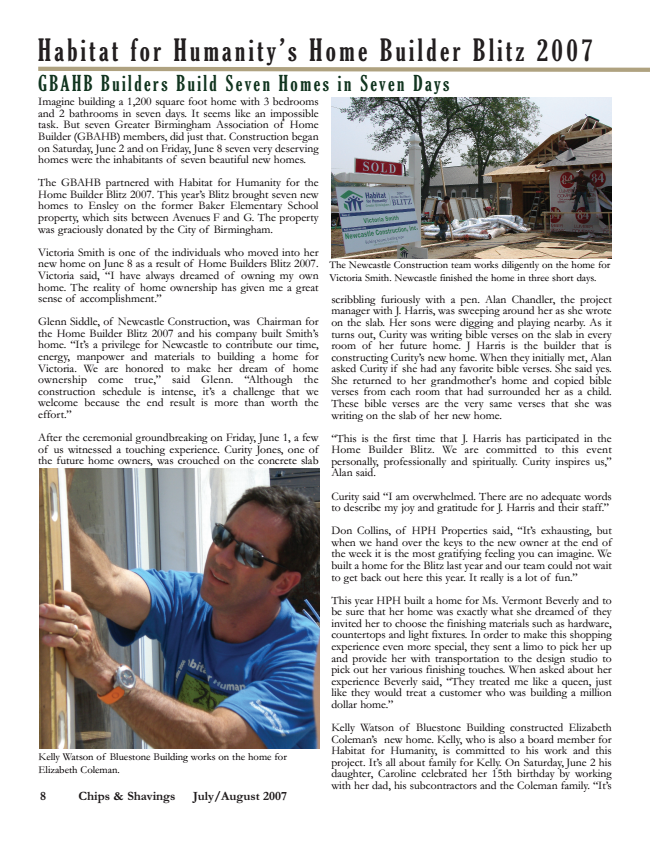Habitat for Humanity - Chips & Shavings Magazine