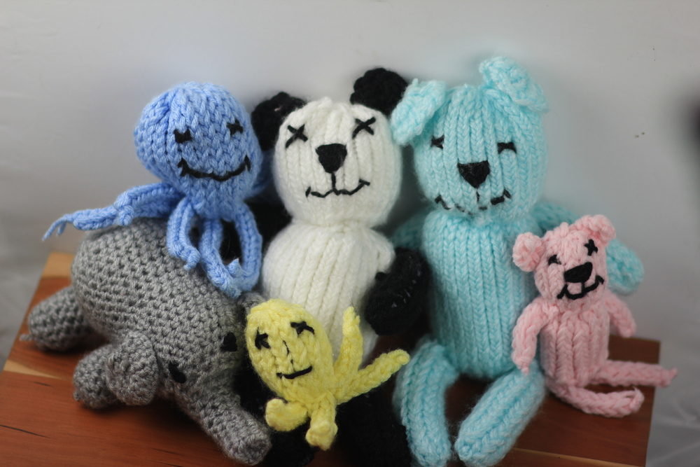 Just some of our little friends! Each item is as unique as the volunteer who made it, and the child who will love it! ❤️