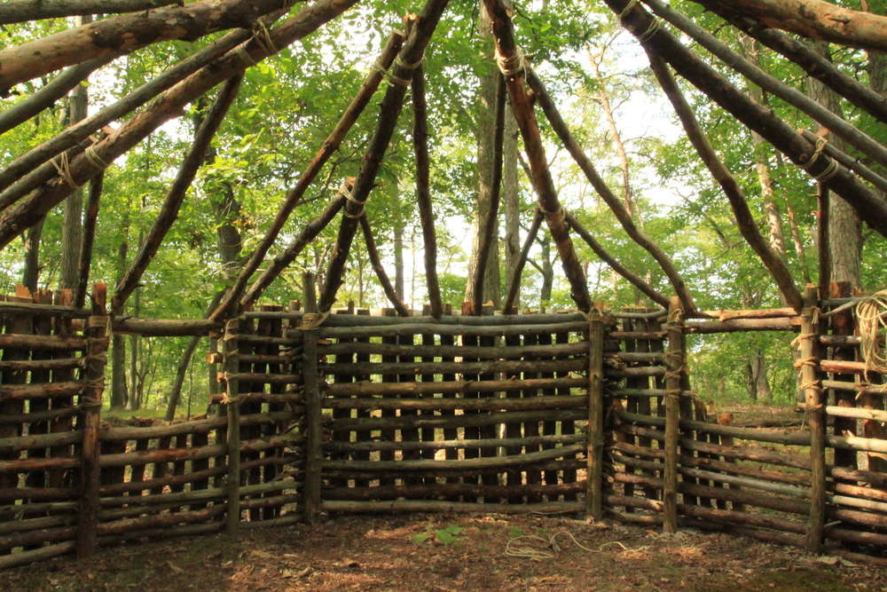 how to build a winter shelter in the woods
